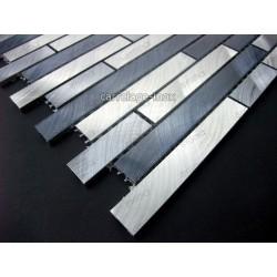 credence cuisine aluminium mosaique douche aluminium cm-blend-gris
