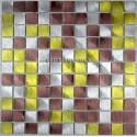 credence cuisine aluminium mosaique douche aluminium cm-alu25-dore