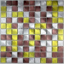 splashback kitchen aluminium mosaic shower aluminium cm-alu25-dore
