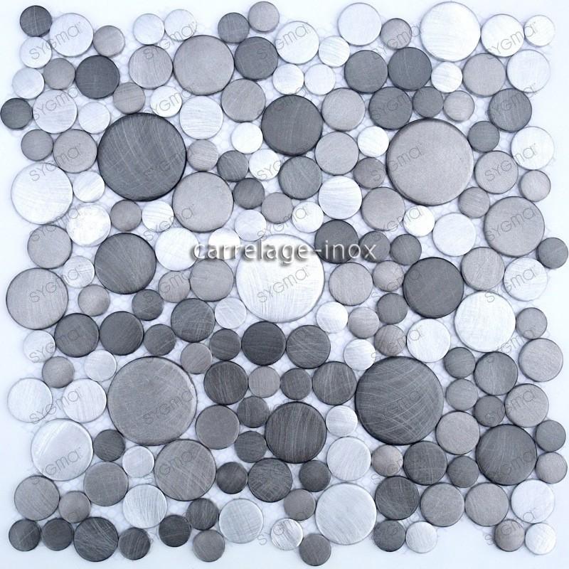 mosaico aluminio frente cocina ducha baño cm-loop-gris