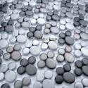 mosaico aluminio frente cocina ducha baño cm-ludik