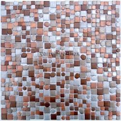 backsplash kitchen aluminium mosaic shower cm-trendy-beige