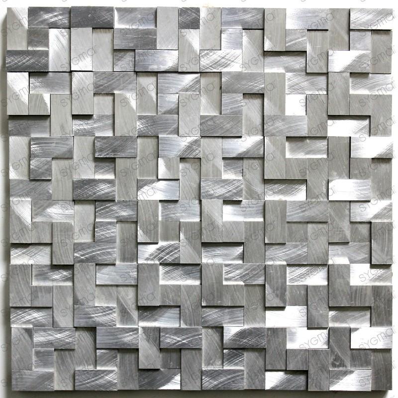 mosaico aluminio frente cocina ducha baño cm-alu98