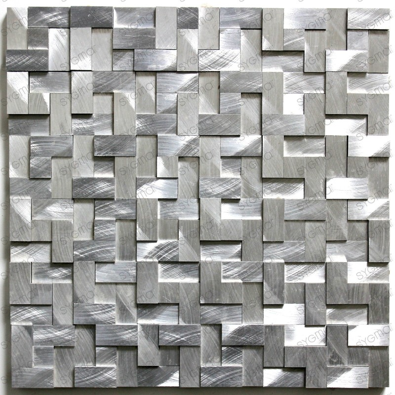mosaico aluminio muro Sekret
