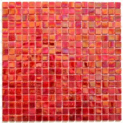 Mosaic glass Rainbow Scarlet paste