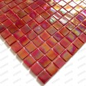 Mosaic glass bathroom and kitchen Imperial Rouge