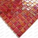 mosaique pate de verre Rainbow ecarlate