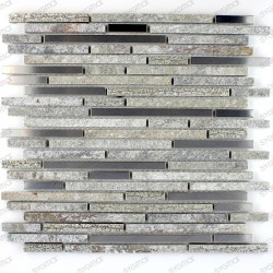 Mosaic tile stone and stainless steel 1 plate RADIUS