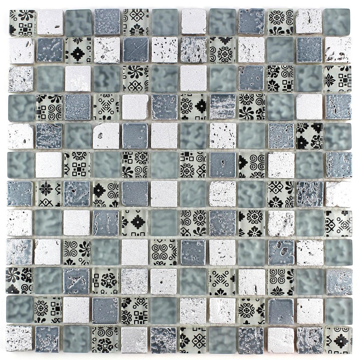 Mosaique salle de bain douche mur et sol MILLA - carrelage-mosaique