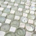 Carrelage mosaique verre et pierre ardoise 1 plaque ALLURE