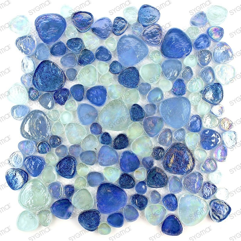 Galet de salle de bain mosaïque de verre 1m2 HIMA - carrelage-mosaique