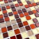 mosaico ducha vidrio mosaic baño frente cocina gloss prune