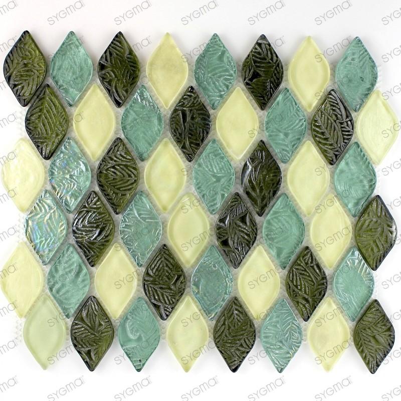 mosaico ducha vidrio mosaic baño frente cocina pulp bleu
