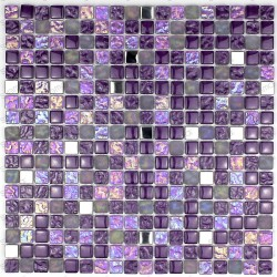 Shower and bathroom mosaic in glass Harris violet 1sqm