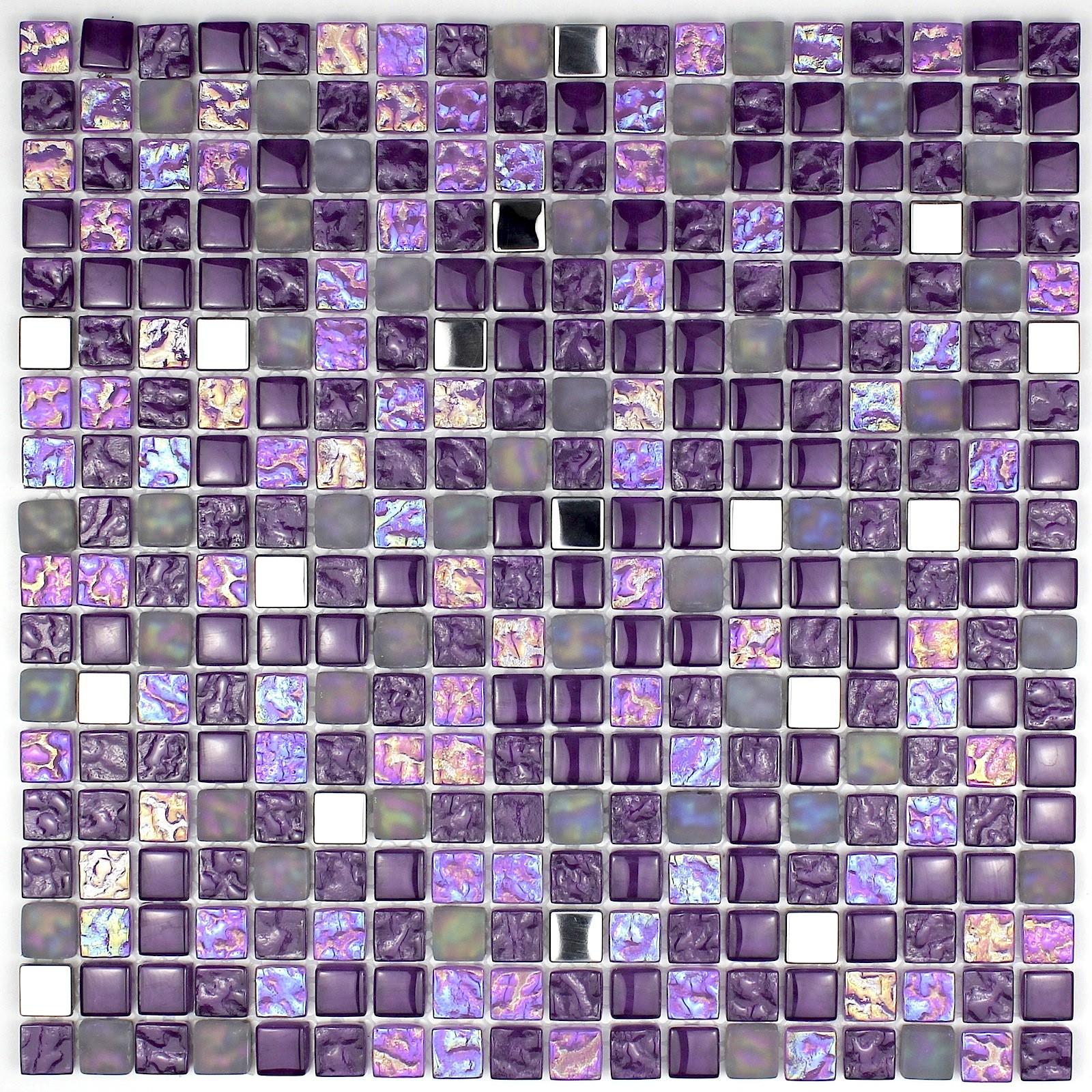 Mosaique Pour Salle De Bain Et Douche 1m2 Harris Violet Carrelage
