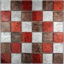 carrelage mosaique verre faience murale 1 plaque LUX ROUGE