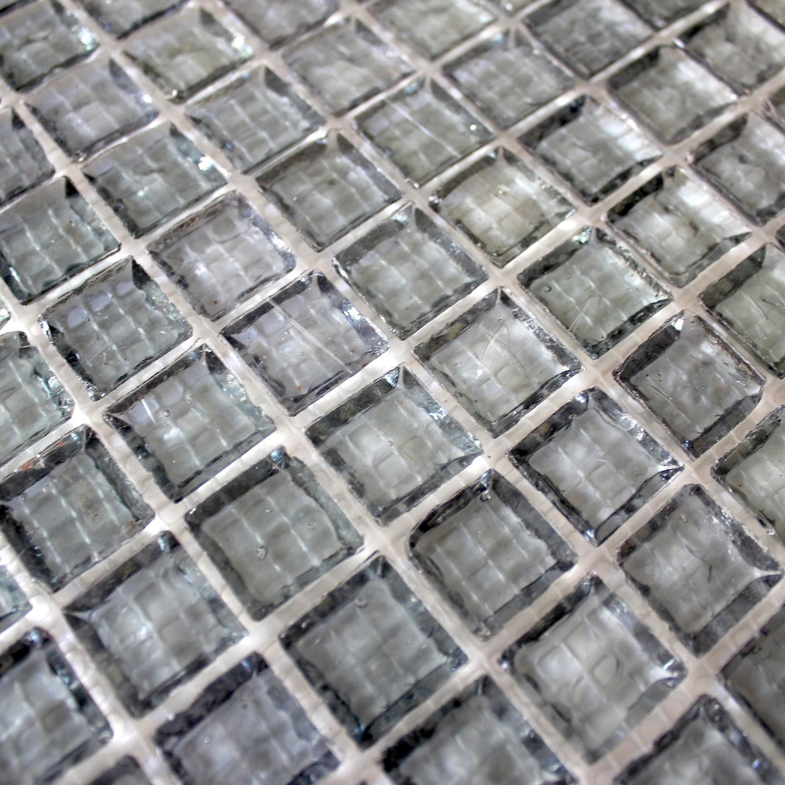 Deco Salle De Bain Fille ~ Mosaique Mur Cuisine Sol Salle De Bain Douche 1m2 Crystal Gris
