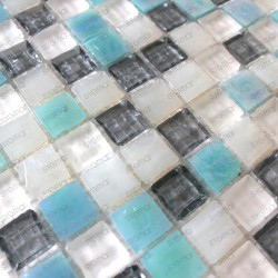 Mosaic wall kitchen and bathroom 1sqm CRYSTAL HOLLY
