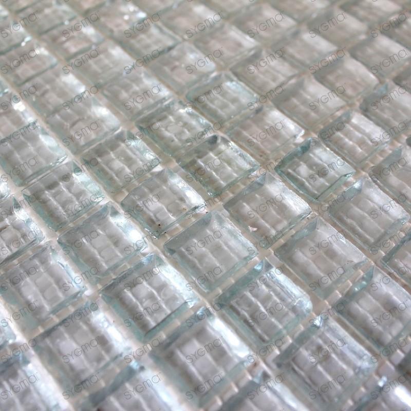 Mosaique douche salle de bain et cuisine 1m2 CRYSTAL NEUTRE