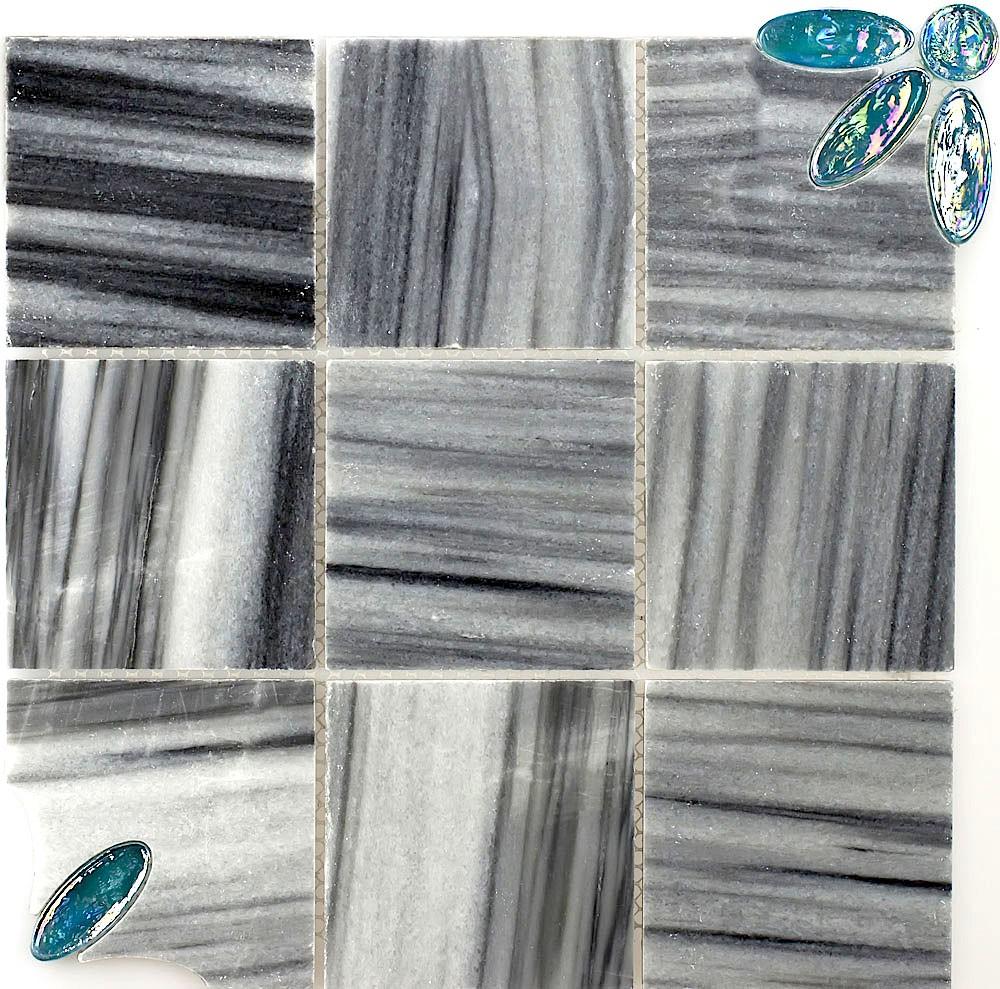 plaque de mosaique en marbre pour mur et sol carmi carrelage mosaique - Douche Italienne Dimension1752