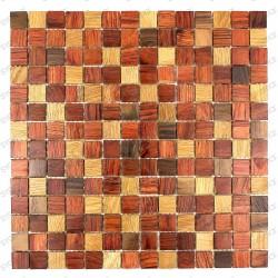 Baño de madera mosaico plano cocina modelo shiro
