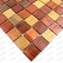 Mosaic wooden bathroom backsplash kitchen model sepora