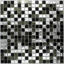mosaique de verre pour sol et mur modèle 1m-glossnero