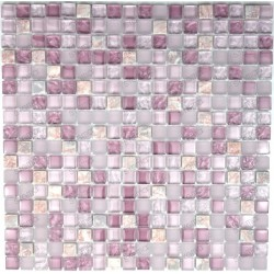 Tile mosaic glass and stone 1 sheet Rossi