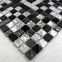 glass for floor and wall mosaic model 1 m-glossnero