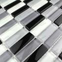 mosaique de verre mur de cuisine 1m-rectnoir
