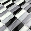 modelo de vidrio de mosaico de la pared de cocina de 1m 1m-rectnoir