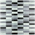 glass for kitchen 1m wall mosaic model 1m-rectnoir