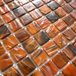 Mosaique pate de verre pour salle de bain et douche vitro orang 1m2