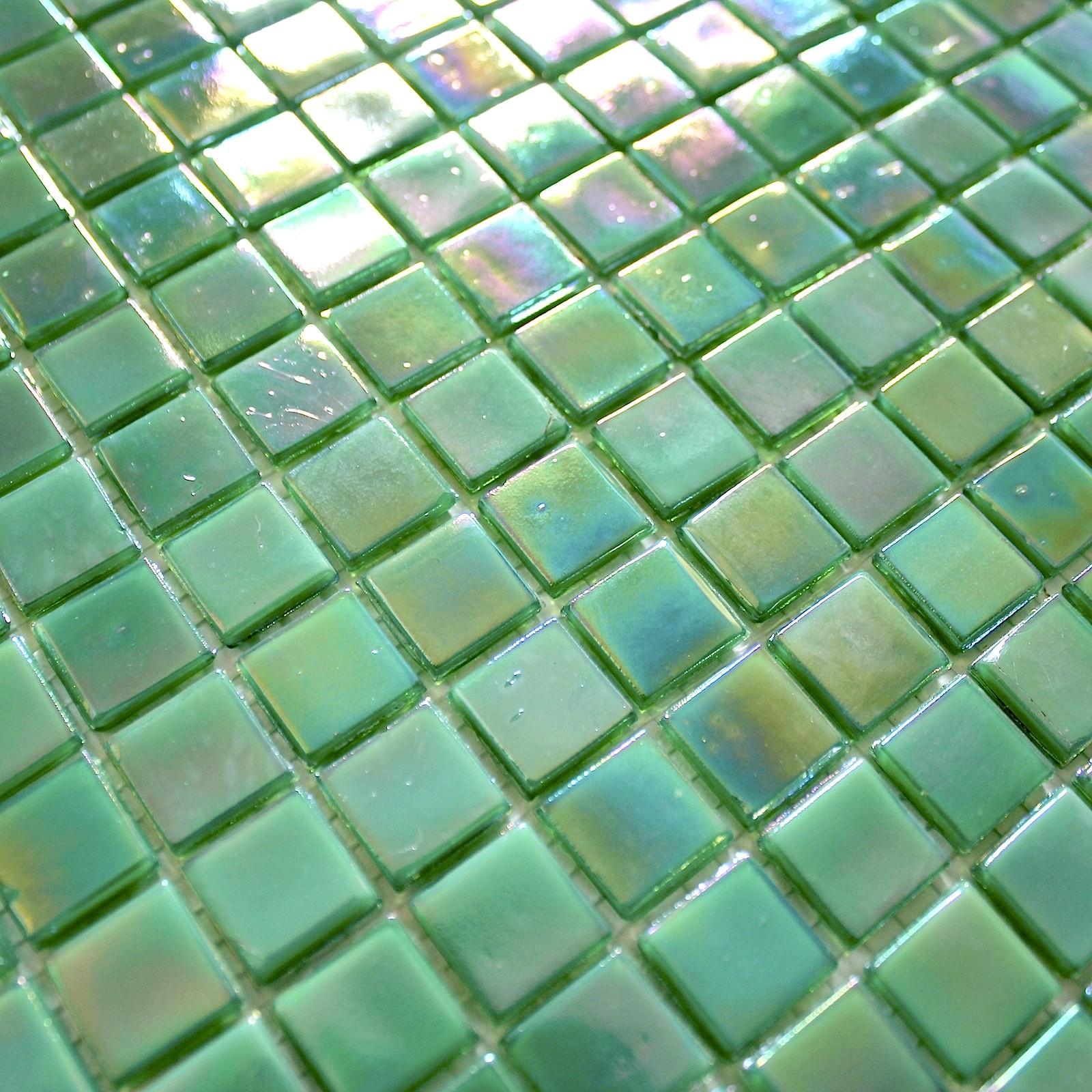 Pate De Verre Douche Et Salle De Bain Mosaique 1m Rainbow Jade