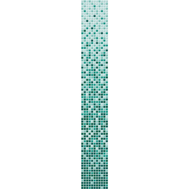 Gradient color VITA green glass mosaic