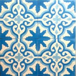 Cement tiles 1sqm model flore-bleu
