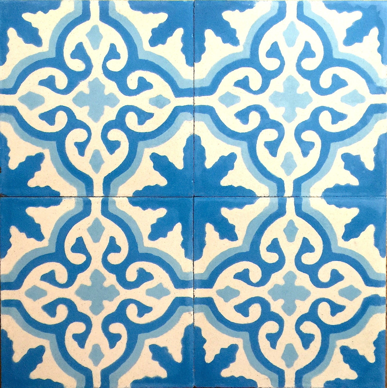 Modele De Carrelage Sol cement tiles 1sqm model flore-bleu - carrelage-mosaique