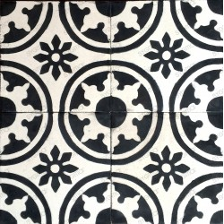 Cement tiles 1sqm model palma-noir