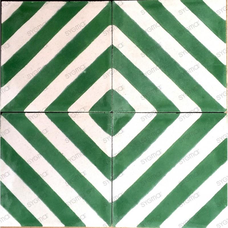 Cement tiles 1sqm model chevron-vert