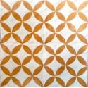 carreau ciment sol et mur 1m  modele samba-orange