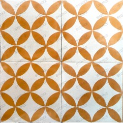 Cement tiles 1sqm model sampa-orange