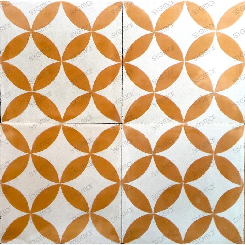 carreau de ciment sol et mur 1m modele sampa orange carrelage mosaique. Black Bedroom Furniture Sets. Home Design Ideas