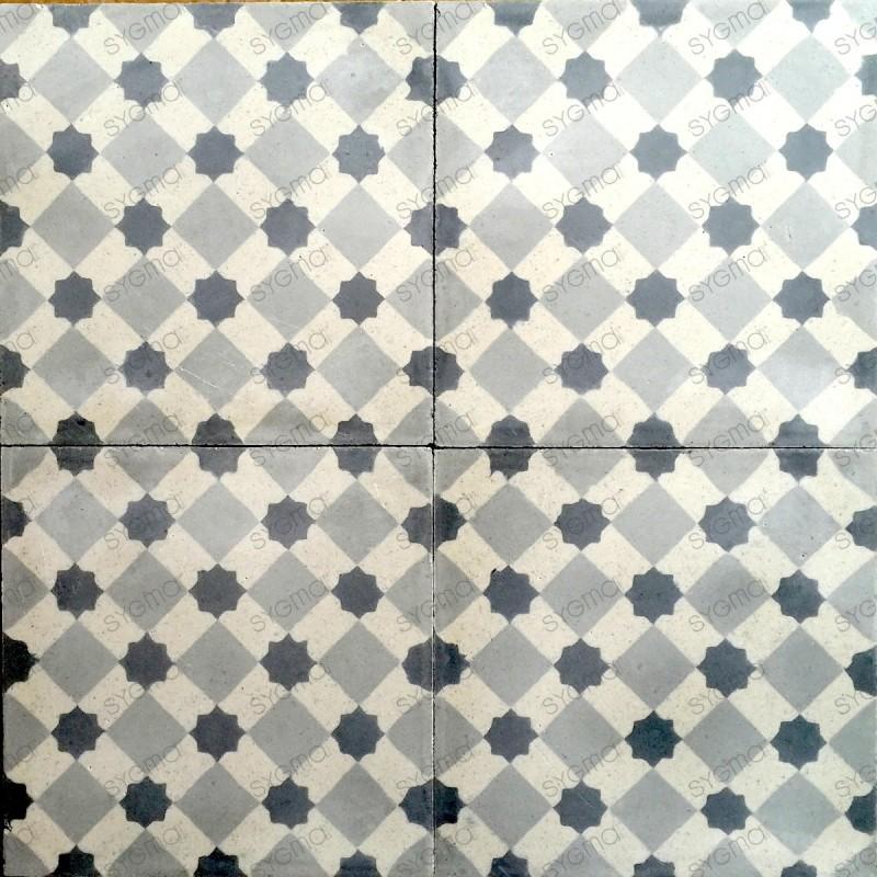 Cement tiles 1sqm model frizy-gris