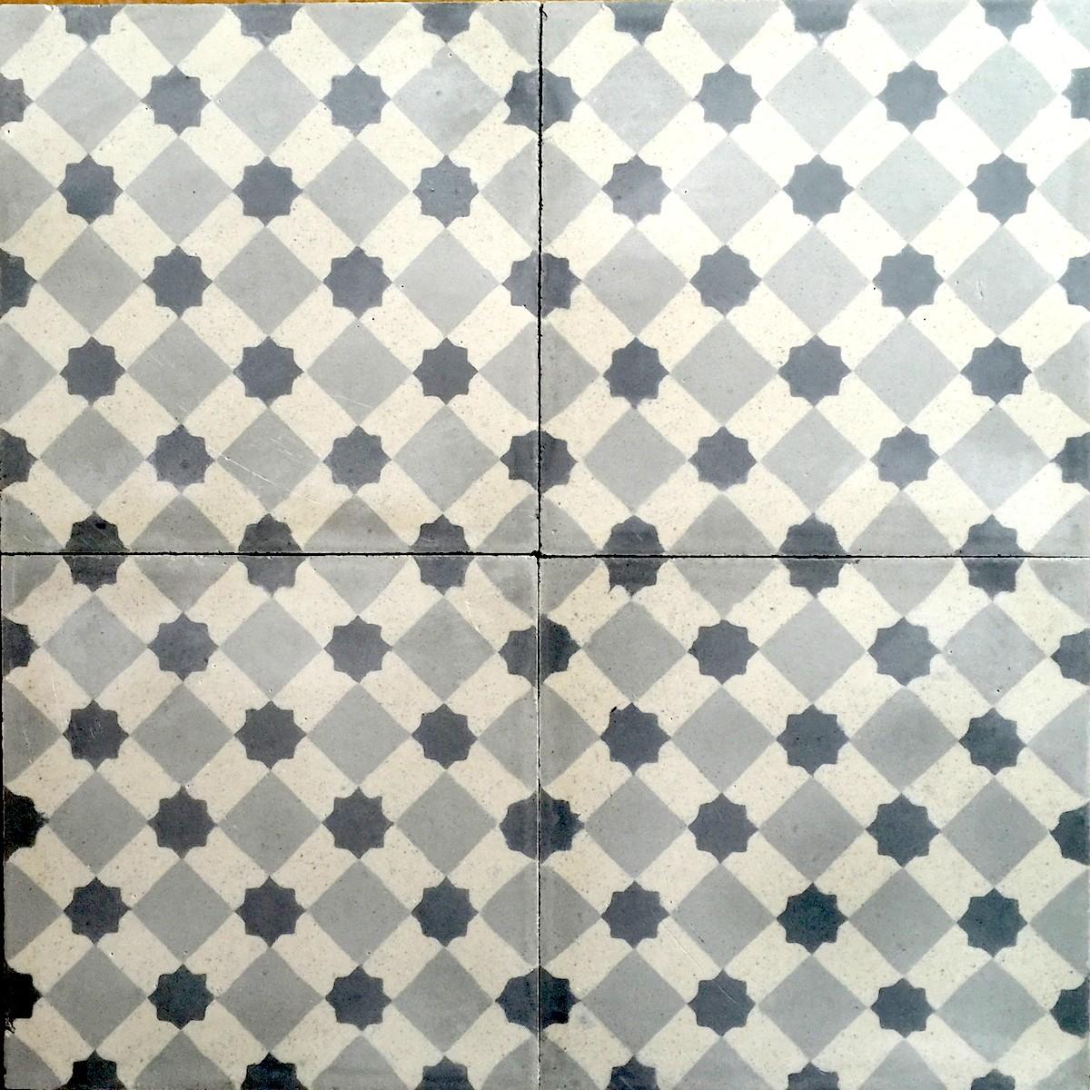 Carreaux Ciment Sol Et Mur 1m2 Modele Frizy Gris Carrelage Mosaique