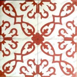 Cement tiles 1sqm model bess-rouge