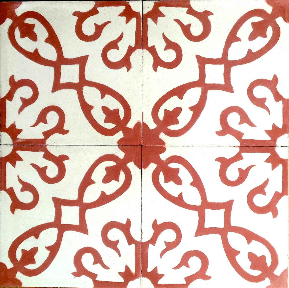 Carrelage Mural Imitation Carreau De Ciment carrelage en ciment sol et mur 1m2 modele bess-rouge - carrelage-mosaique