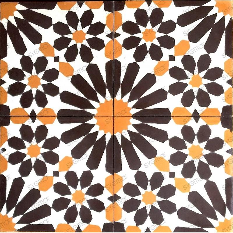Cement tiles 1sqm model anso-fauve