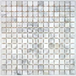 Mosaic tile stone marble Nizza Blanc