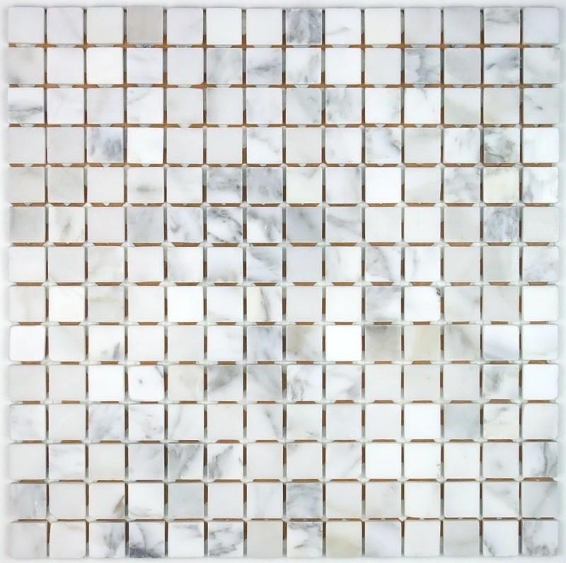Mosaique De Pierre Nizza Blanc Carrelage Mosaique