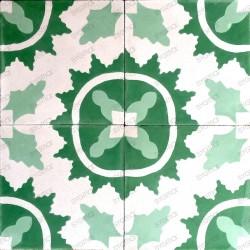 carreaux en ciment mur et sol 1m2  modele ferret-vert
